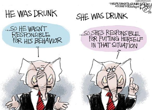 He was drunk. She was drunk