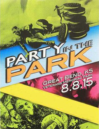 new vlc party n the park poster