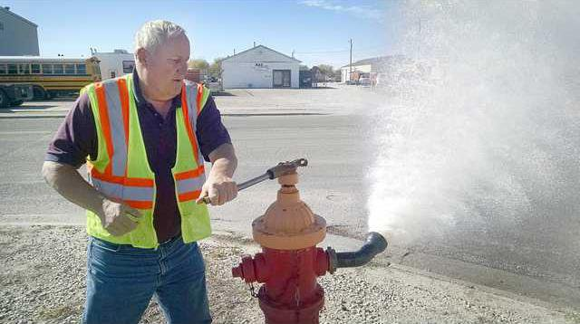 new deh city hydrant flushing pic
