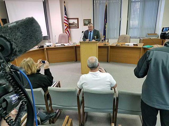 new deh sex case news conference wide angle cell phone