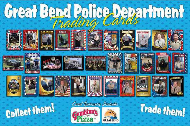 new re GBPD trading cards