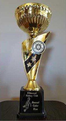new vlc Ellinwood trophy for color run race web