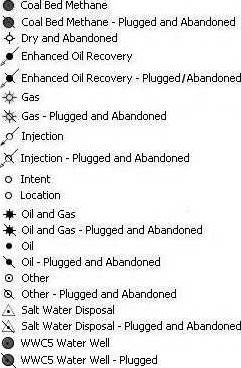 6 Oil and Gas map key