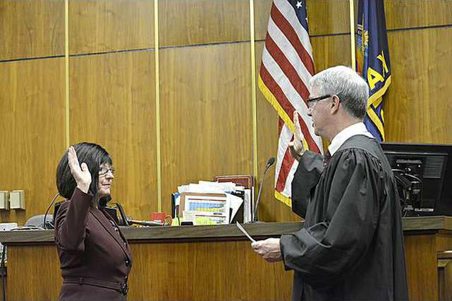 new deh county commission amy mellor swearing in pic web