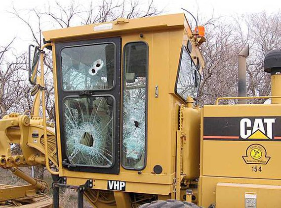 new deh county equipment vandalized pic