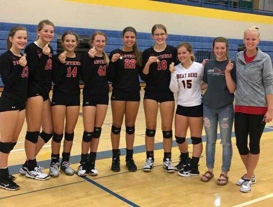 GB ninth grade volleyball