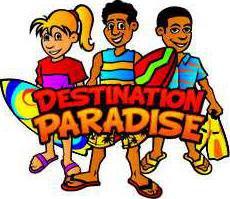 chu vlc desination paradise vbs logo