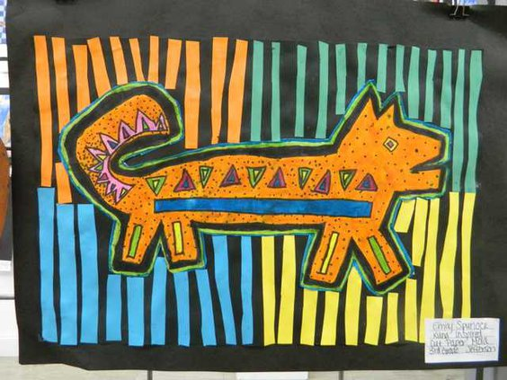 new slt Young artists cut paper