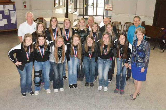 new deh county commission central plains girls b-ball team pic
