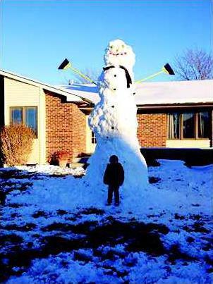 new slt rec tall snowman