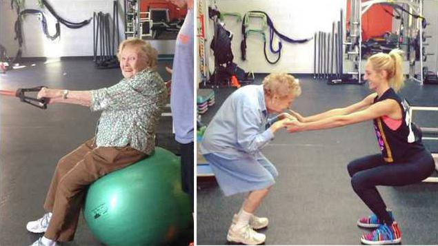 old lady fitness