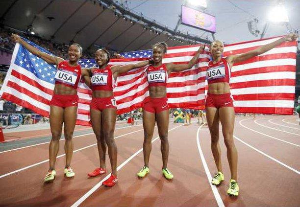 spt ap USA relay team