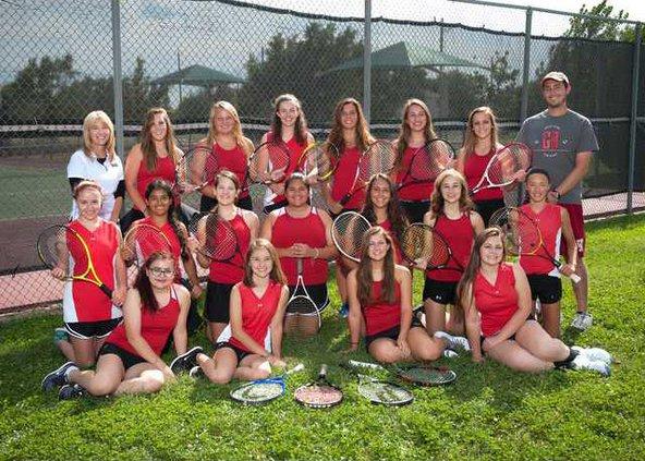 great bend tennis team shot