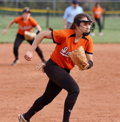 Baylea Perez charges home for a Haven bunt..jpeg
