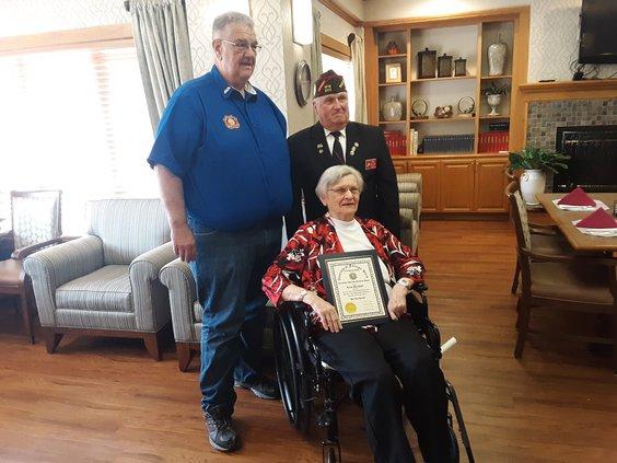 VFW award Lois Marshall 2019
