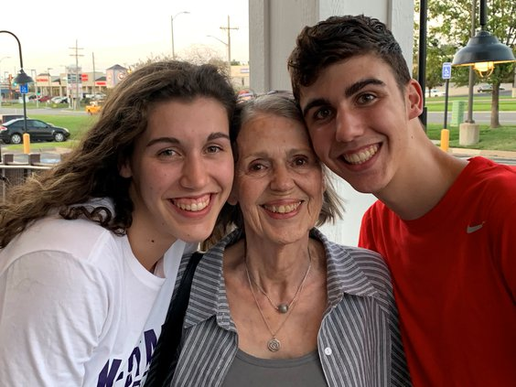Williams with gramdmother and brother.jpg