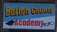 Barton County Academy sign