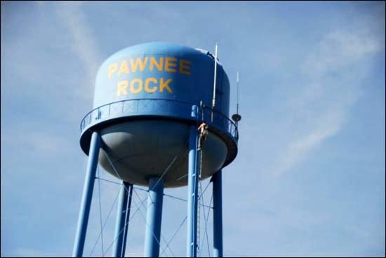 Pawnee Rock water tower