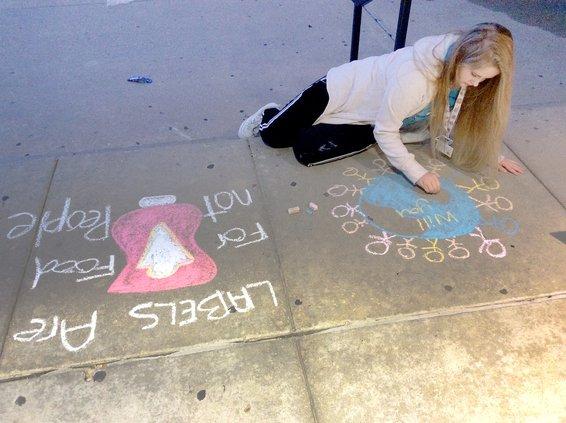 anti bullying chalk GBHS 2019