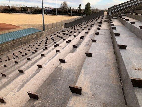 new_vlc_Larned moffet stadium bleachers removed.jpg