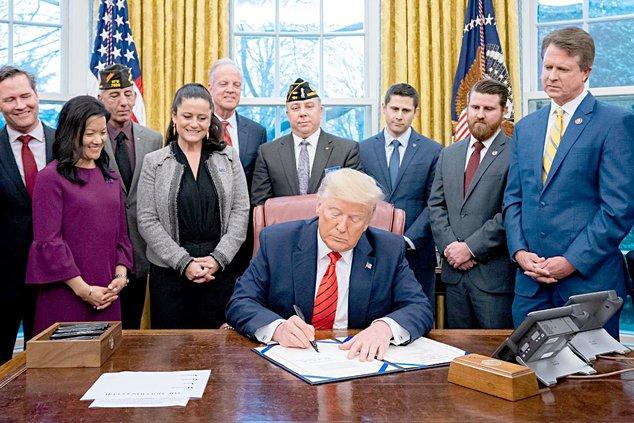 marshall-trump bill signing 2
