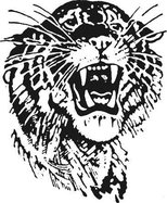 St. John Tigers logo b w.tif