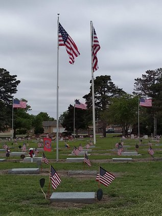 Decorated Cemetery Veterans' Circle