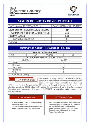county covid 8-11 AM