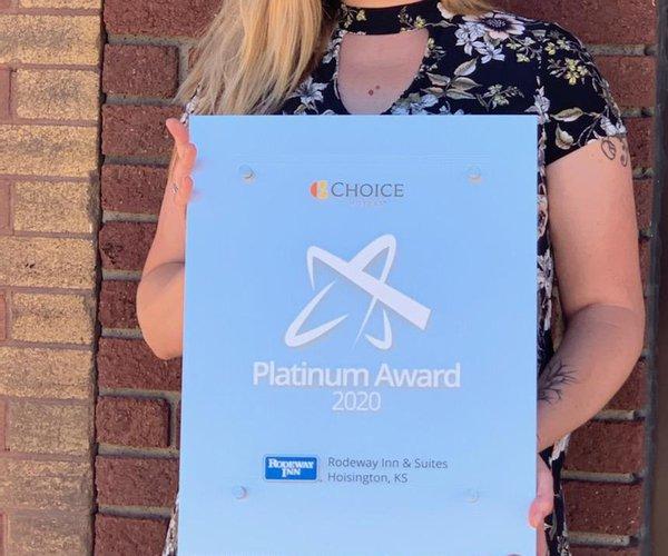 Rodeway platinum award