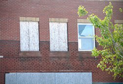 boarded windows