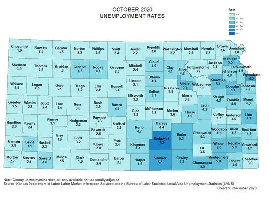 oct 2020 jobless map