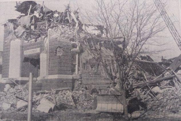 Carnegie library building demolition