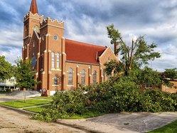 Hoisington storm damage church 2019