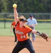 Nikki Taylor throws a strike in game one with Haven..jpeg