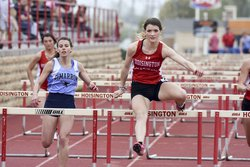 Hoisington Samatha Colson wins the 100 Meter Hurdles1.jpg