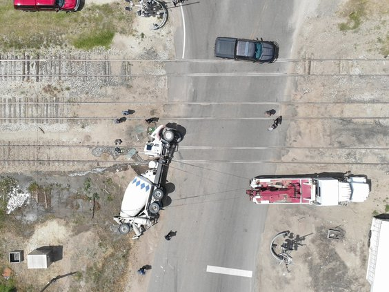 Cement truck crash - 2
