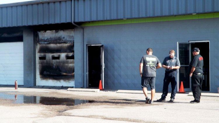 Mitchell Motors fire