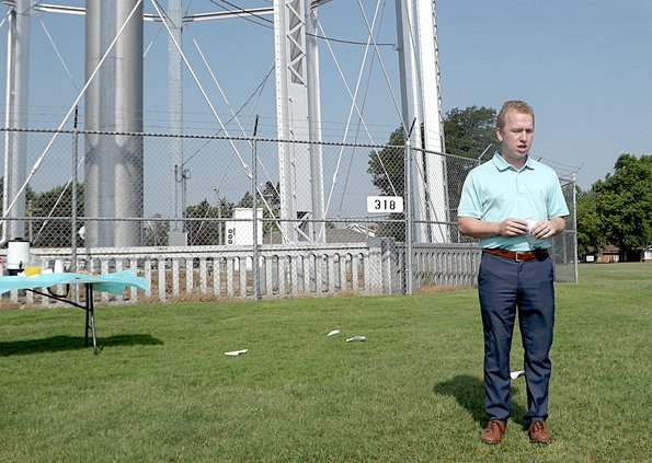 Mayor Nusser at the water tower