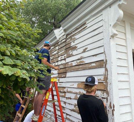Bat Cats scrape paint 2