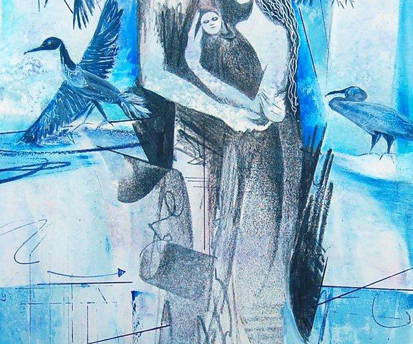 Blue Dancers  Christina Lamoureaux, Hoisington